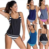 Women's Tankini Bikini Set Swimsuit Bathing Suit Swimwear Beachwear PLUS SIZE