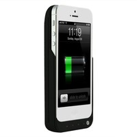 GREENERY/BXT® 4000mah High Capacity External Backup Power Bank Portable Rechargeable Battery Charger Case Cover for Apple iPhone 5 mobile Phone. (BLACK 4500mAh)