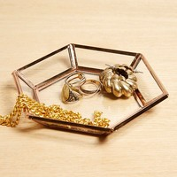 Hexagon Glass Trinket Dish | Urban Outfitters