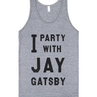 I Party With Jay Gatsby (Vintage Tank)-Unisex Athletic Grey Tank