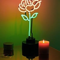 Stem Rose Neon Sign Table Lamp | Urban Outfitters