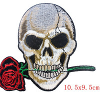 Flowered skulls Patches 5 colors iron on patch