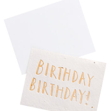 Birthday! Seed Paper Card