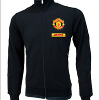 Nike Manchester United Authentic N98 Track Top - Black and Antharacite - SoccerPro.com
