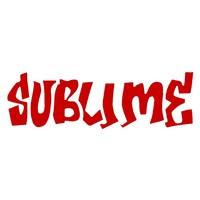 Sublime - Red Logo Cutout Decal