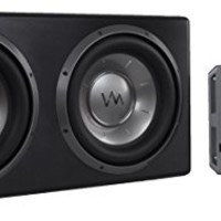 """VM Audio Dual 12"""" Sealed 4800 Watt Complete Car Stereo Subwoofer Bass Package"""