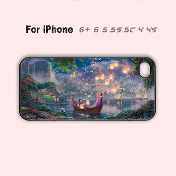 Beautiful Rapunzel Disney Tangled Cute Phone Case For iPhone7 7S 7 7Splus iPhone 4 4s 5 5s 5c 6 + Cover-5 Colors Available