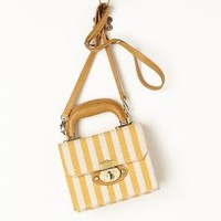 Manchester Striped Mini Satchel by Miss Albright Yellow One Size Bags