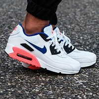 NIKE Air Max 90 Classic Women Men Casual Sport Running Sneakers Shoes White&Pink&Blue
