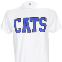 University of Kentucky CATS on a White T Shirt