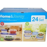 Durable 24PC Food Container Set Dorm Items College Stuff Quick Meals Cooking College