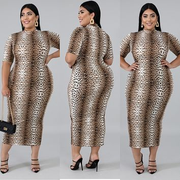 WILDCAT - Leopard Midi Dress