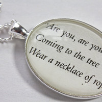 Hunger Games 'The Hanging Tree' Book Page Necklace