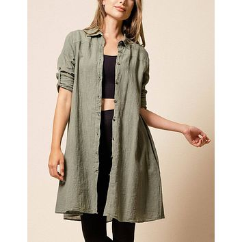 Brea Shirt Dress - Willow - As-Is-Clearance