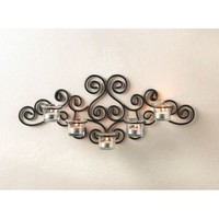 Metal Scrollwork Wall Candle Holder