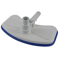 By PoolCentral 12 inch  Deluxe Large Weighted Blue and White Swimming Pool Vacuum Head with Bumper