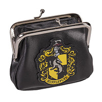 Universal Studios Harry Potter Crest Hufflepuff Coin Purse New With Tags