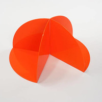 Orange Kartell Bookends by Giotto Stoppino ITALY #4909