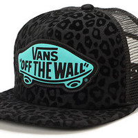 Vans Girls Beach Girl Black Leopard Trucker Hat