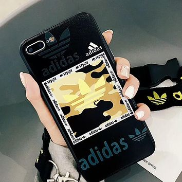 Adidas X Kenzo Popular Unisex Personality Phone Case For iPhone X iPhone 8 plus iphone 6 6s 6plus 7s plus Black I-OF-SJK