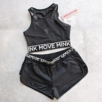 Final Sale - Minkpink - The Dark Side Jogger Shorts in Black