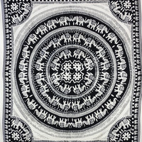Elephant Tapestry White Indian Hippie Tapestries Bohemian Tapestries Mandala Tapestry Wall Hanging Wall Tapestries Dorm Bed Spread Wall Art