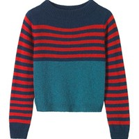 Women's Brandy Stripe Neat Sweater | TOAST