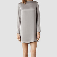 Womens Yve Dress (Taupe) | ALLSAINTS.com