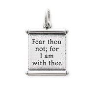 """""""For I Am With Thee"""" Scroll Charm 