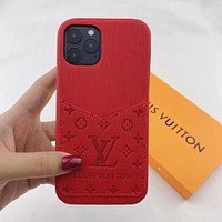 Louis Vuitton LV Fashion iPhone Phone Cover Case For iPhone 7 7plus 8 8plus X iPhone XR XS MAX 11 Pro Max 12 mini 12 Pro Max Red