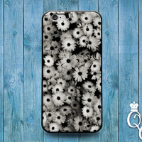 iPhone 4 4s 5 5s 5c 6 6s plus iPod Touch 4th 5th 6th Gen Amazing Black White Daisy Flower Collage Cover Super Cute Cool Classy Phone Case