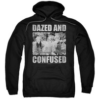 DAZED AND CONFUSED/ROCK ON - ADULT PULL-OVER HOODIE - BLACK - 2X - Black -