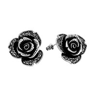 Midnight Rose Earrings