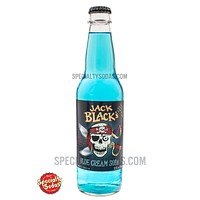 Jack Black's Blue Cream Soda 12oz Glass Bottle