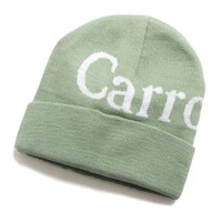 Wordmark Beanie Sage Green