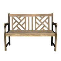 V1624 Renaissance Outdoor Graden Bench, Grey-Washed