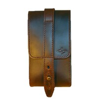 Piatto Satchelita Handmade Leather Phone Holster - Coffee