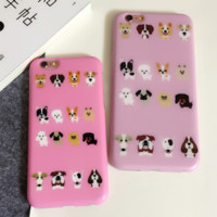 Many lovely dogs Case Cover for Apple iPhone 6 6S 6 Plus 6S Plus 160824-001