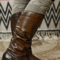 Campfire Chic Cable Knit Boot Cuffs