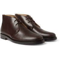 PRODUCT - A.P.C. - Leather Desert Boots - 395304 | MR PORTER