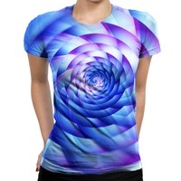 Never Stop Spinning Womens T-Shirt