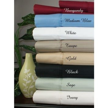 """16"""" Deep Pocket -5 Sizes-1000 Thread Count Striped Egyptian Cotton Bed Sheet Sets in Full Size"""