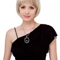 Sliky chin length layered Bob Wig