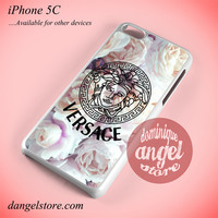 Versace Flower Arrt Phone case for iPhone 5C and another iPhone devices