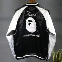 BAPE x MASTERMIND MMJ High Quality Women Men Casual Round Collar Zippers Couple Jacket Coat I-MG-FSSH