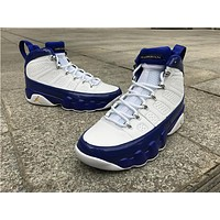 Air Jordan 9 white blue Basketball Shoes 41-47