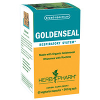 Herb Pharm Goldenseal - Organic - Rhizomes with Rootlets - 540 mg - 60 Caps