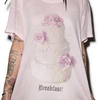 Wildfox Couture Breakfast! Unisex Tee Rose Bud 1