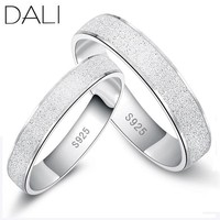 Rings No Change Color Platinum Plated wedding Frosted Couple WRS08