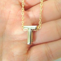 Personalized Initial Necklace - 26 letters
